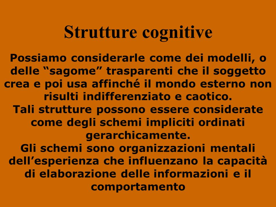 Strutture cognitive