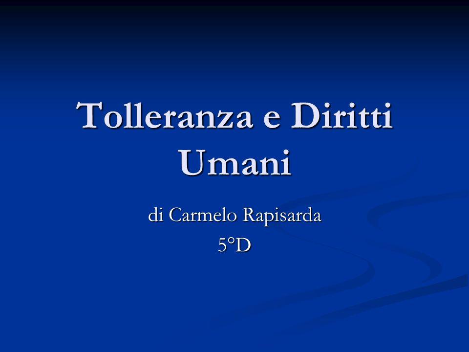 Tolleranza e Diritti Umani
