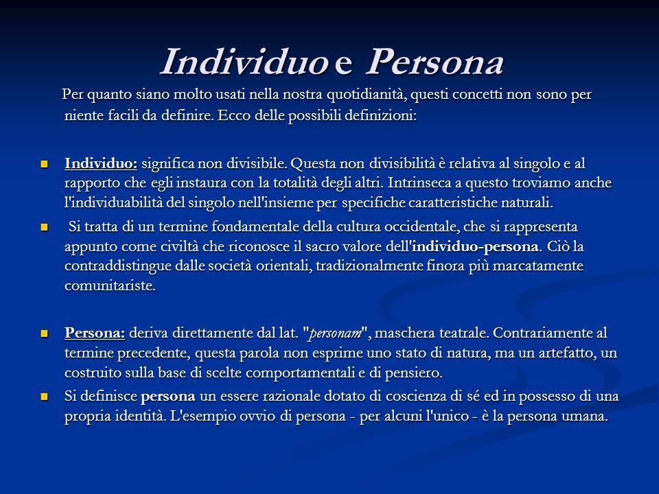Individuo e Persona
