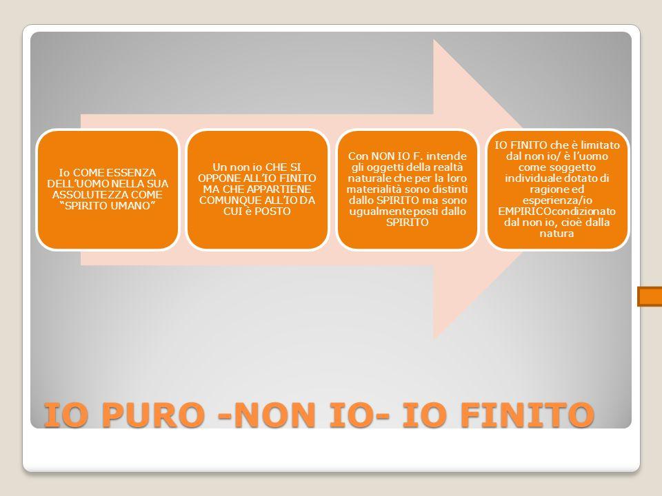 IO PURO -NON IO- IO FINITO