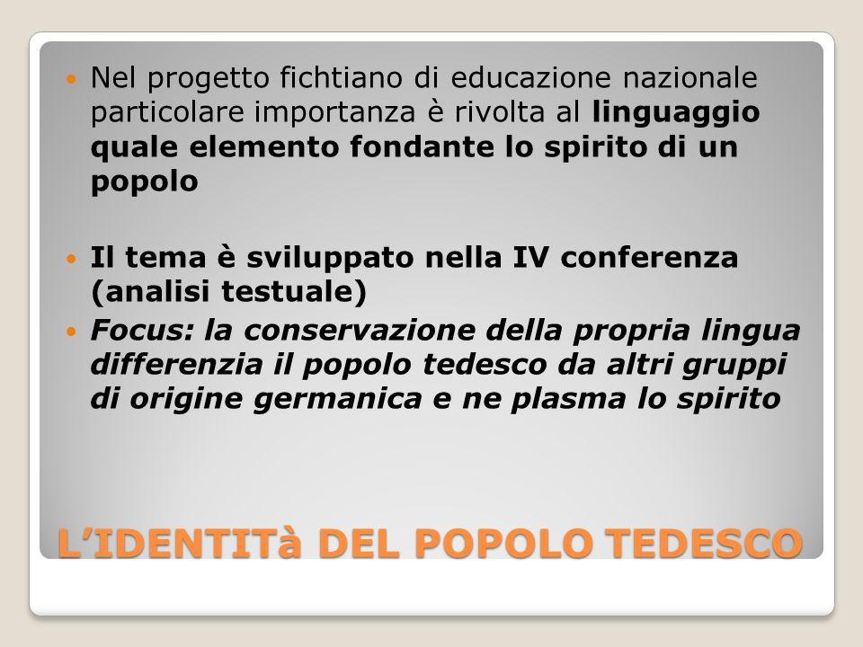 L'IDENTITà DEL POPOLO TEDESCO