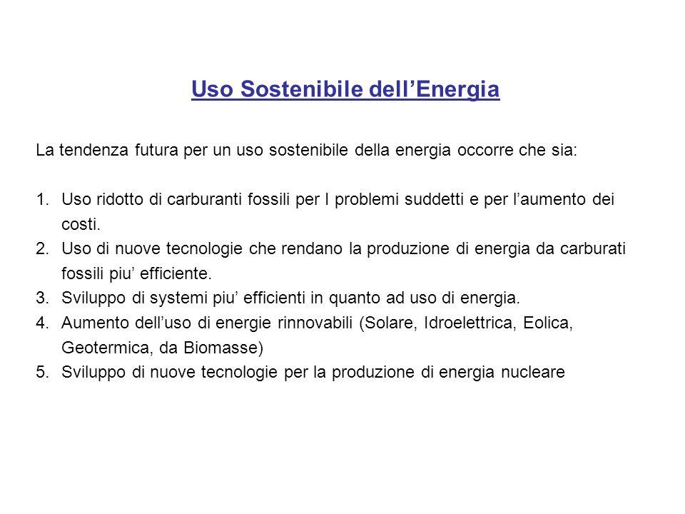 Uso Sostenibile dell'Energia