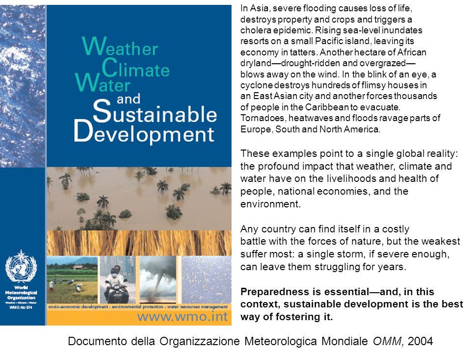 Documento della Organizzazione Meteorologica Mondiale OMM, 2004