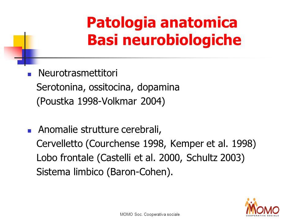 Patologia anatomica Basi neurobiologiche