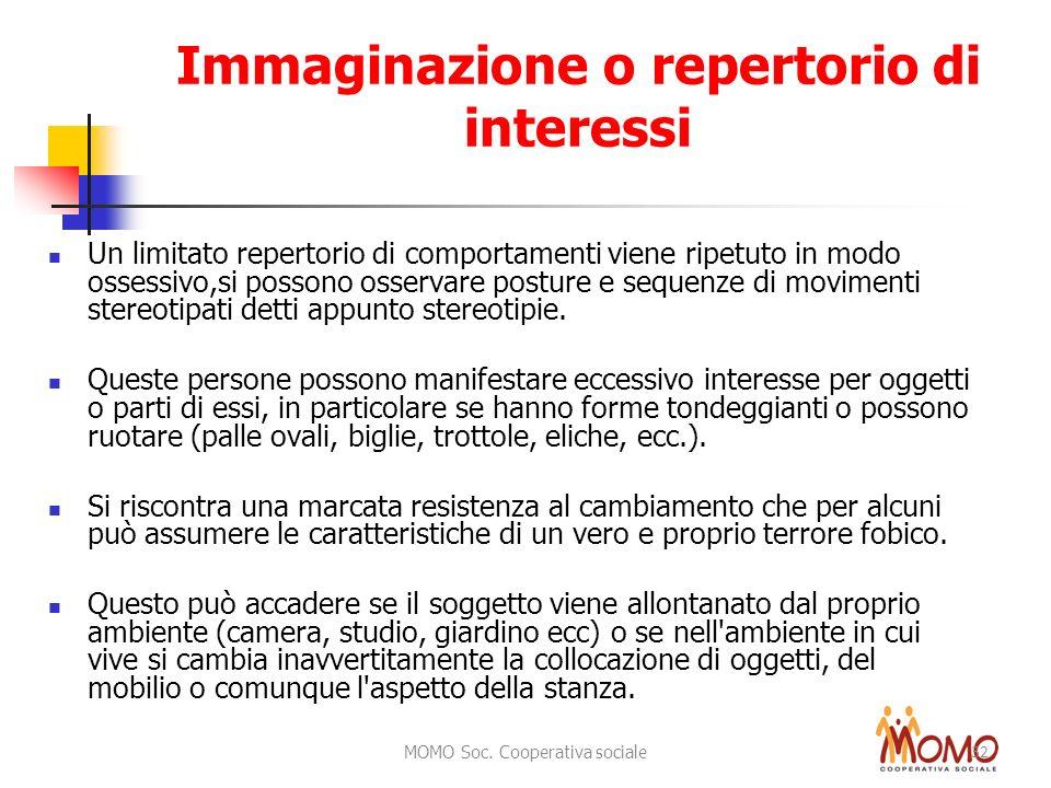 Immaginazione o repertorio di interessi