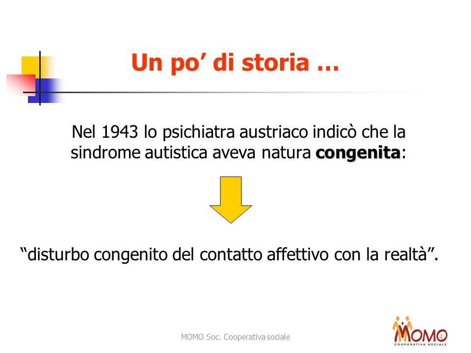 Un po' di storia … Nel 1943 lo psichiatra austriaco indicò che la sindrome autistica aveva natura congenita: