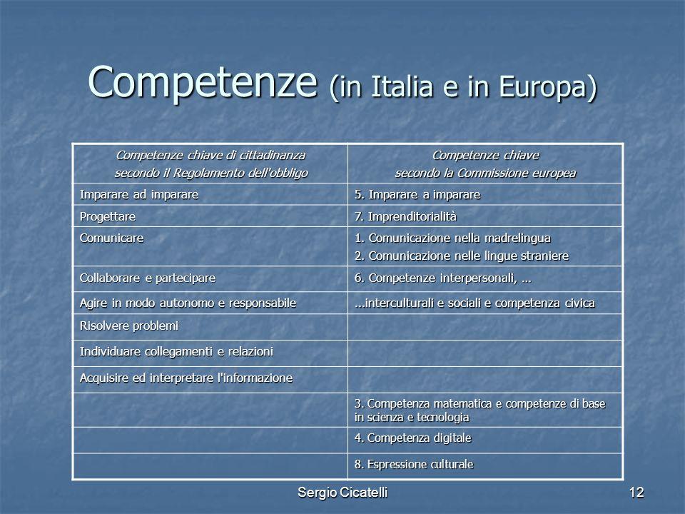 Competenze (in Italia e in Europa)