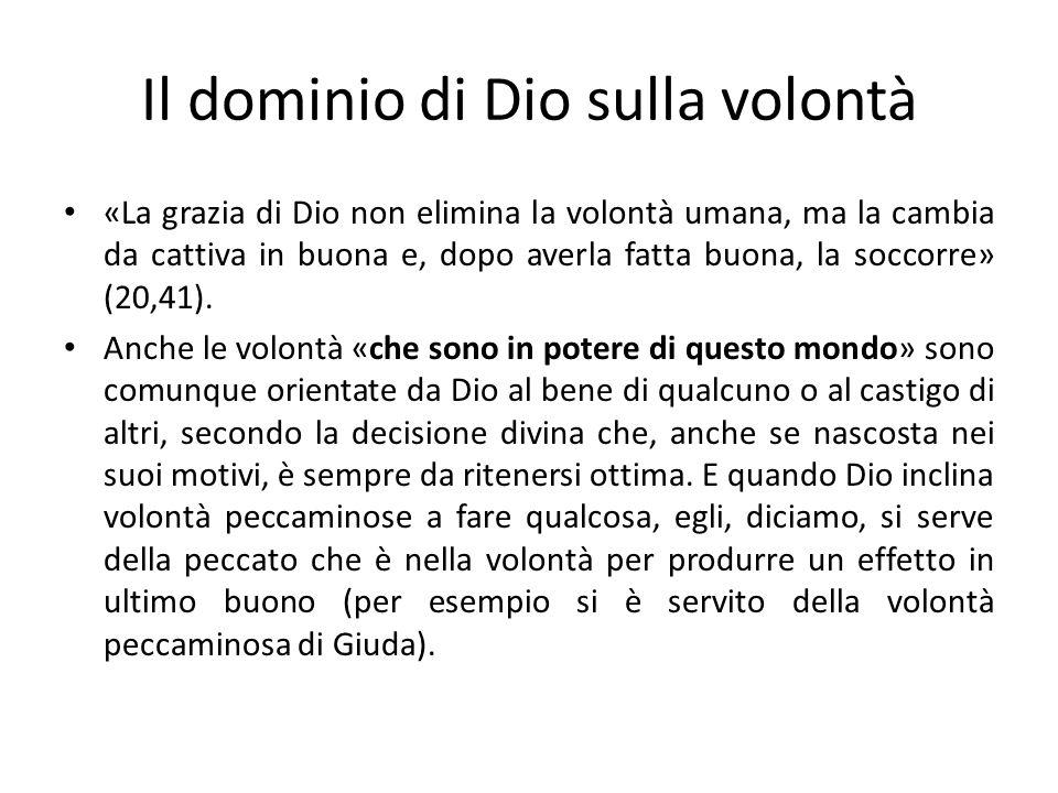 Il dominio di Dio sulla volontà