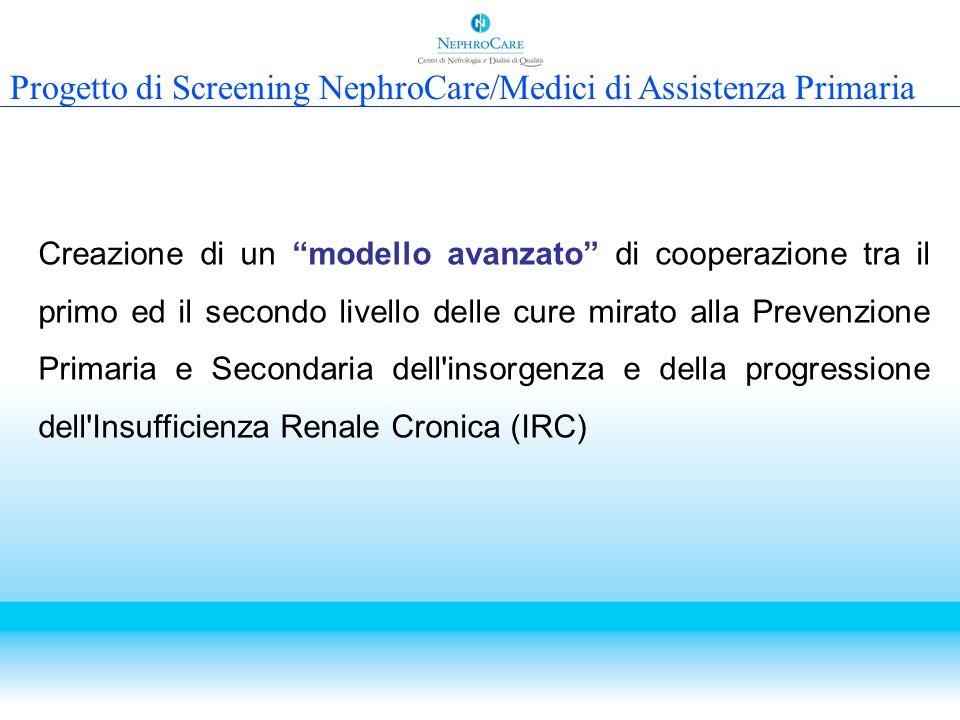 Progetto di Screening NephroCare/Medici di Assistenza Primaria