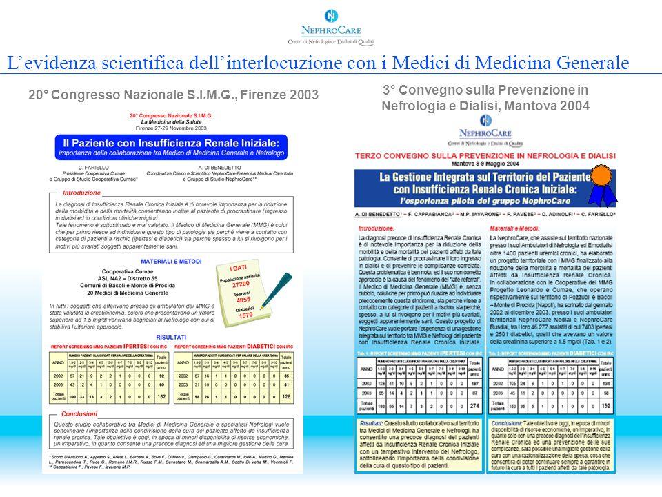 L'evidenza scientifica dell'interlocuzione con i Medici di Medicina Generale