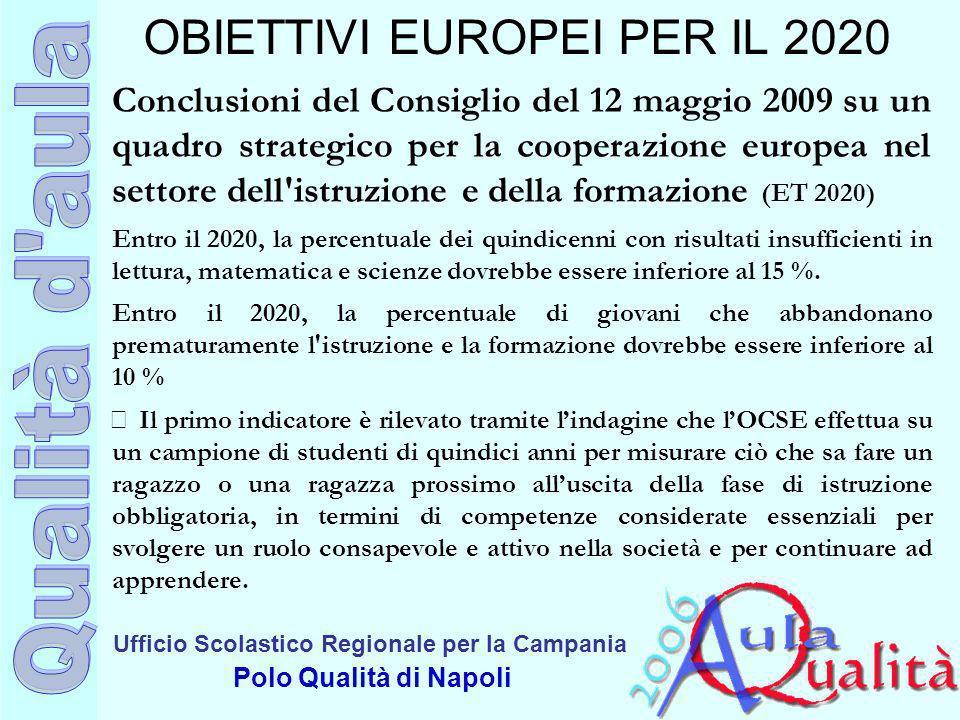 OBIETTIVI EUROPEI PER IL 2020