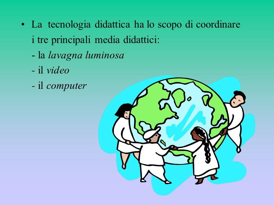 La tecnologia didattica ha lo scopo di coordinare