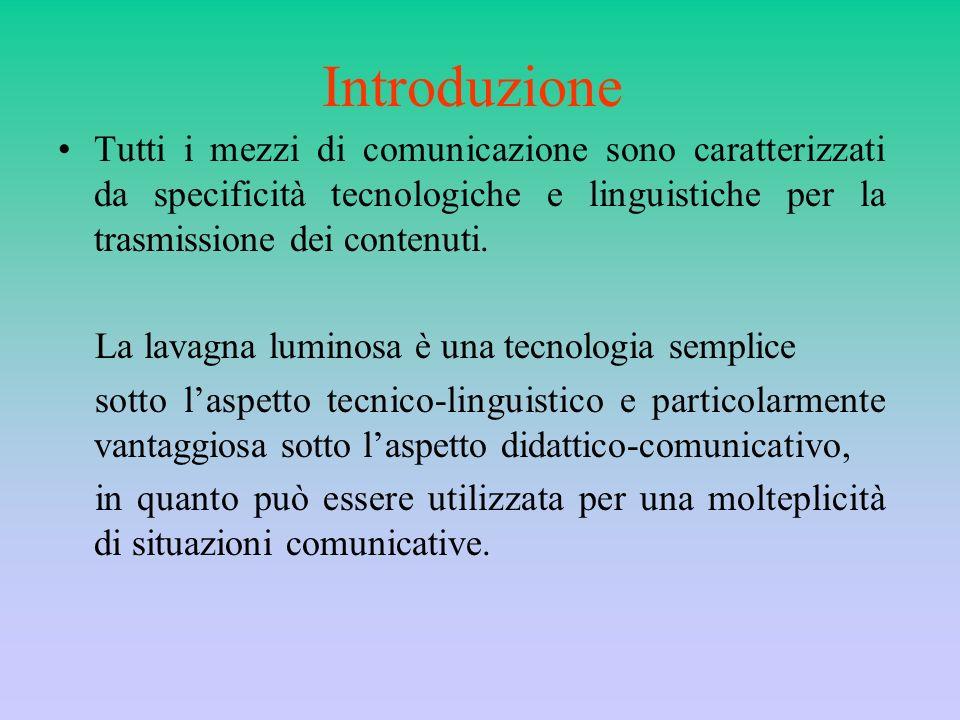 Introduzione Tutti i mezzi di comunicazione sono caratterizzati da specificità tecnologiche e linguistiche per la trasmissione dei contenuti.