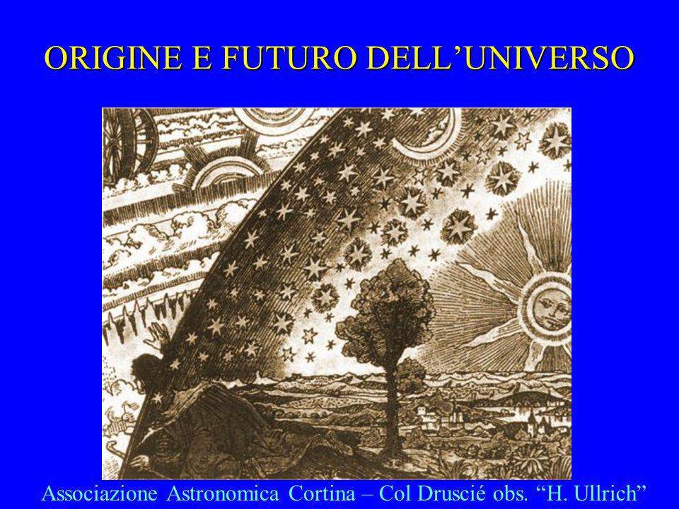 ORIGINE E FUTURO DELL'UNIVERSO