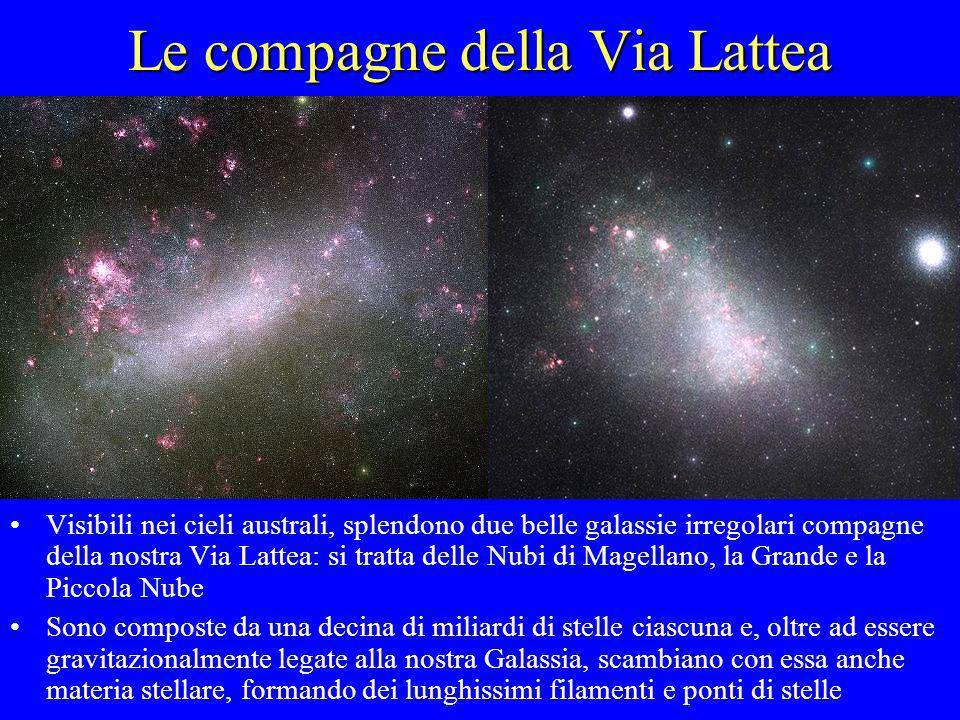 Le compagne della Via Lattea