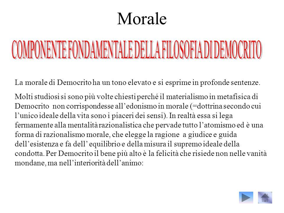 COMPONENTE FONDAMENTALE DELLA FILOSOFIA DI DEMOCRITO