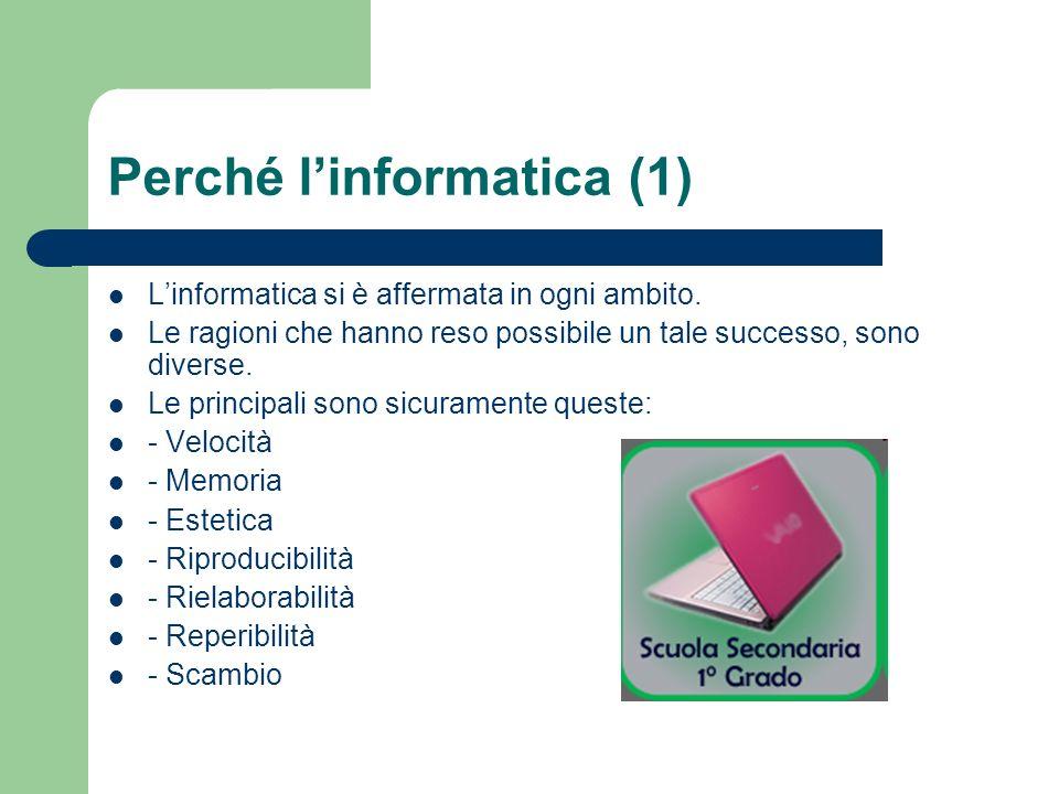 Perché l'informatica (1)