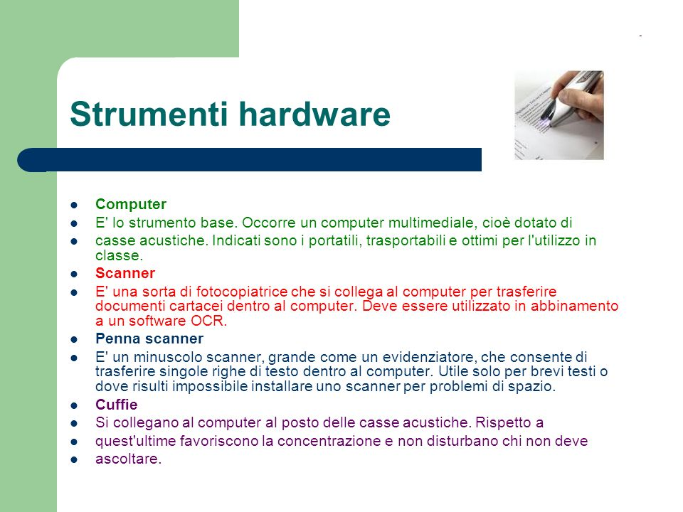 Strumenti hardware Computer