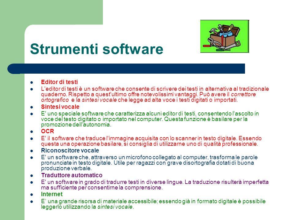 Strumenti software Editor di testi
