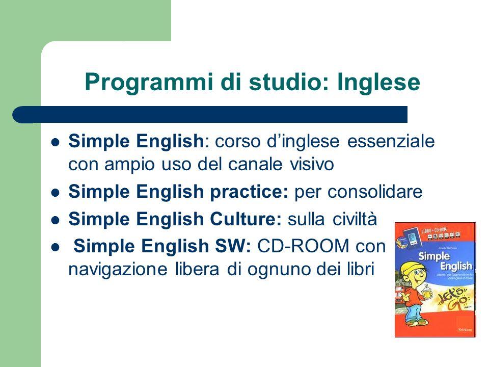Programmi di studio: Inglese