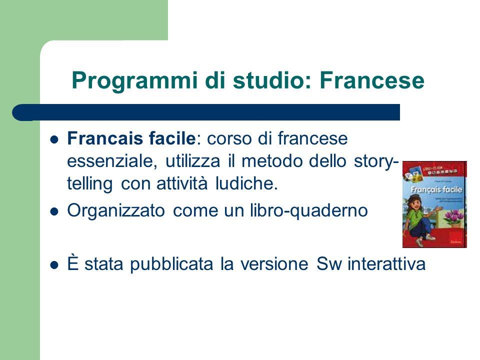 Programmi di studio: Francese