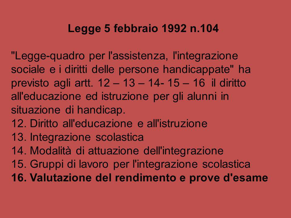 Legge 5 febbraio 1992 n.104