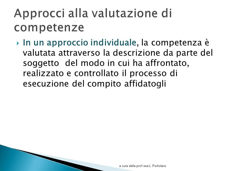 Approcci alla valutazione di competenze