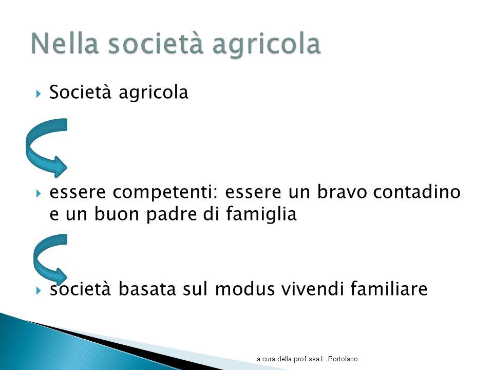 Nella società agricola