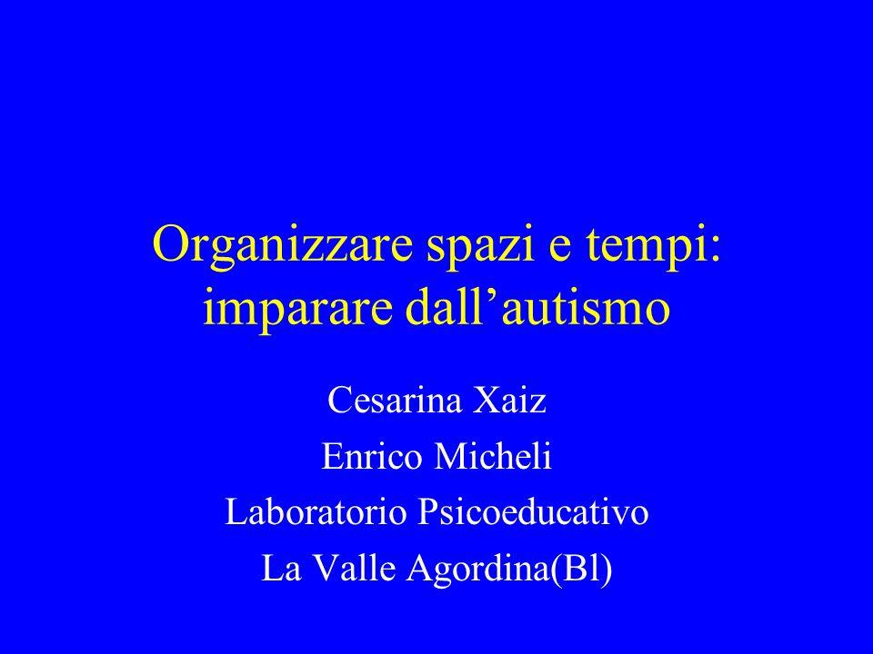 Organizzare spazi e tempi: imparare dall'autismo