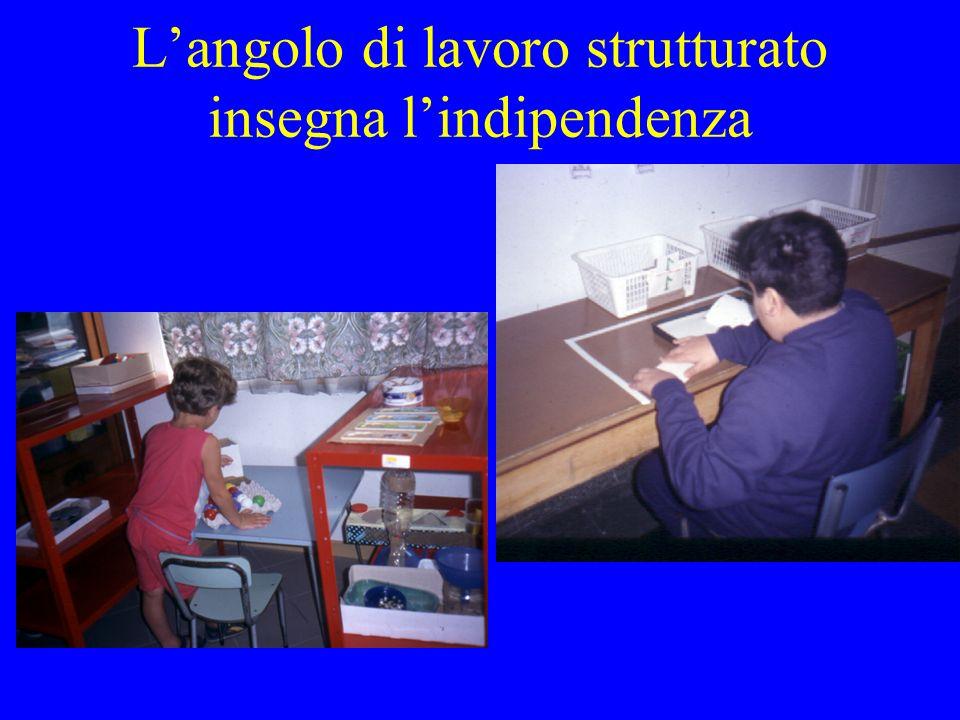 L'angolo di lavoro strutturato insegna l'indipendenza