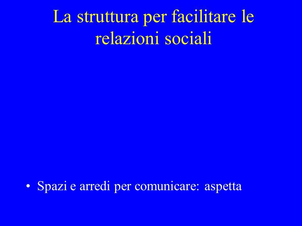La struttura per facilitare le relazioni sociali