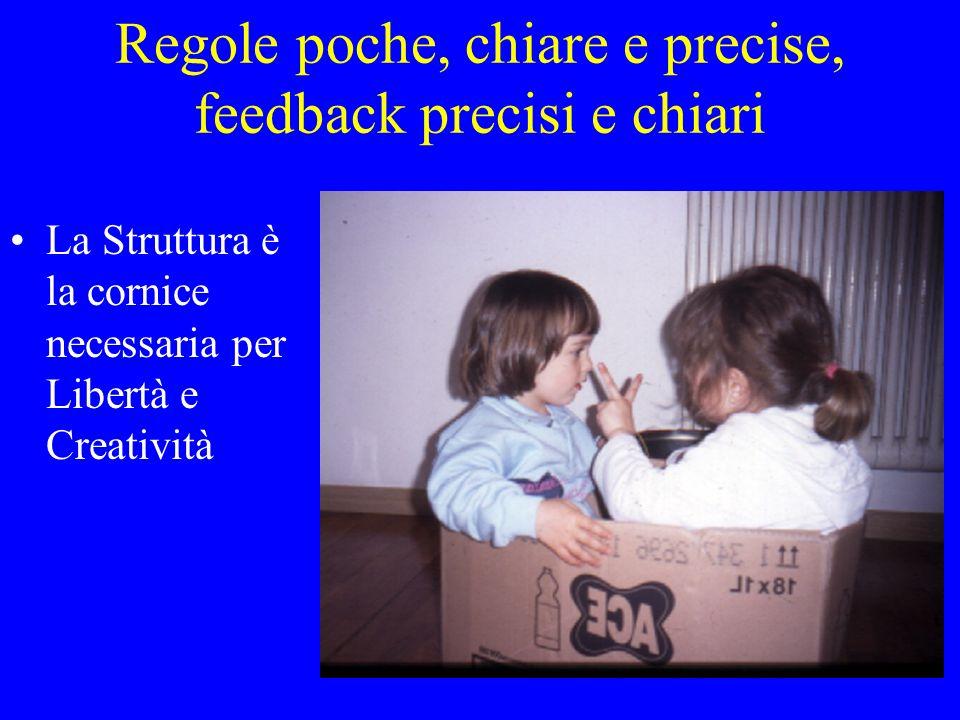 Regole poche, chiare e precise, feedback precisi e chiari