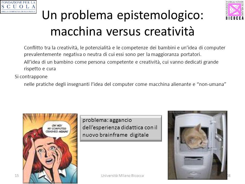 Un problema epistemologico: macchina versus creatività