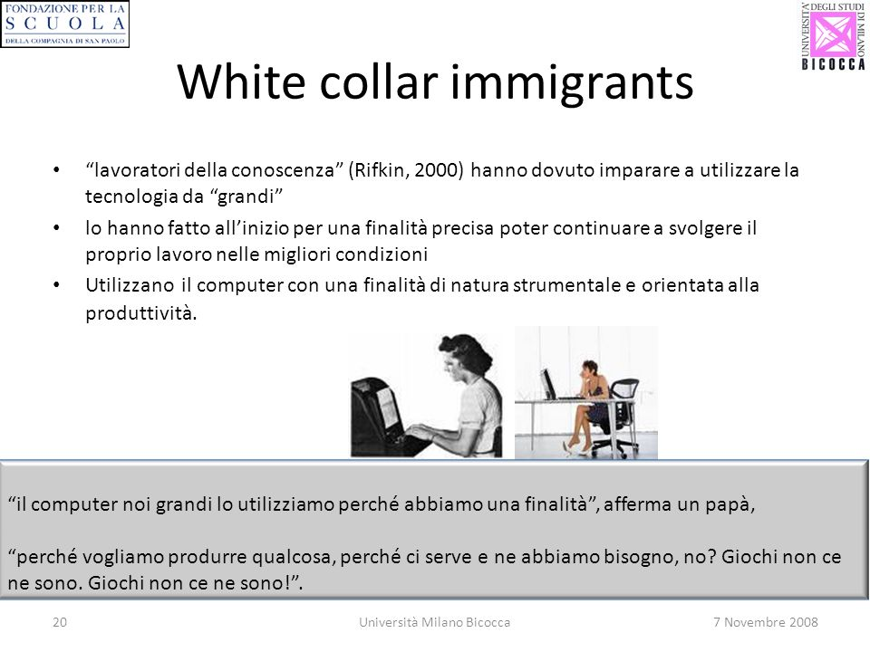 White collar immigrants