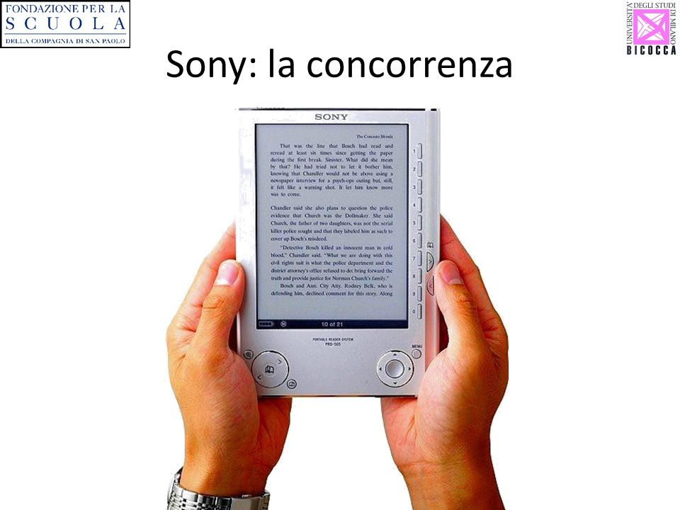Sony: la concorrenza