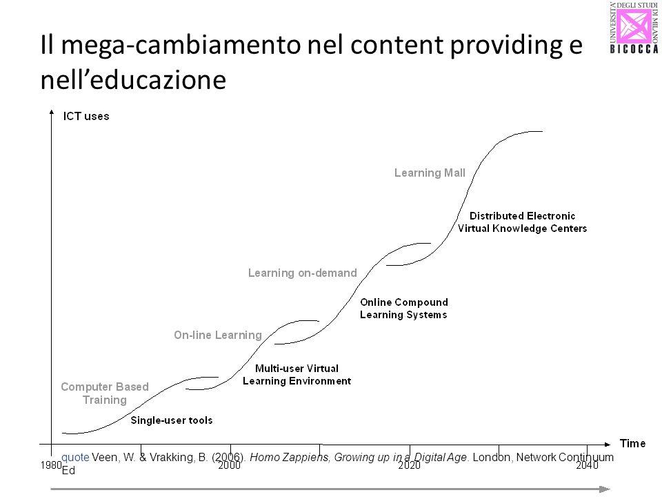 Il mega-cambiamento nel content providing e nell'educazione