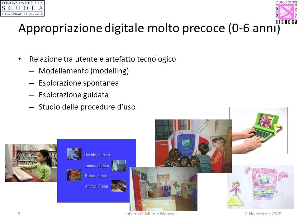 Appropriazione digitale molto precoce (0-6 anni)