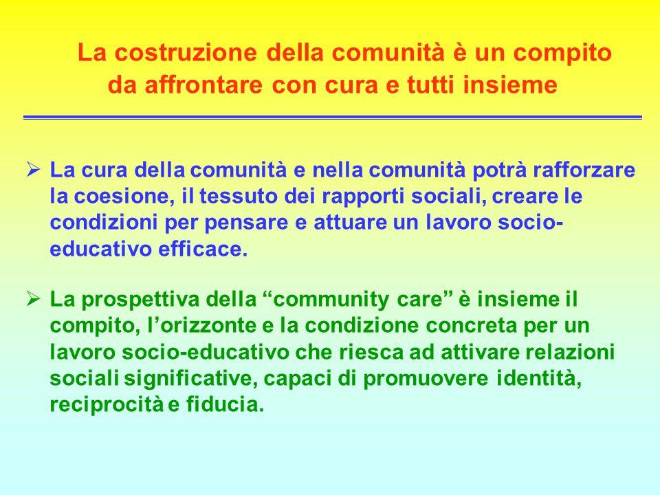 La costruzione della comunità è un compito