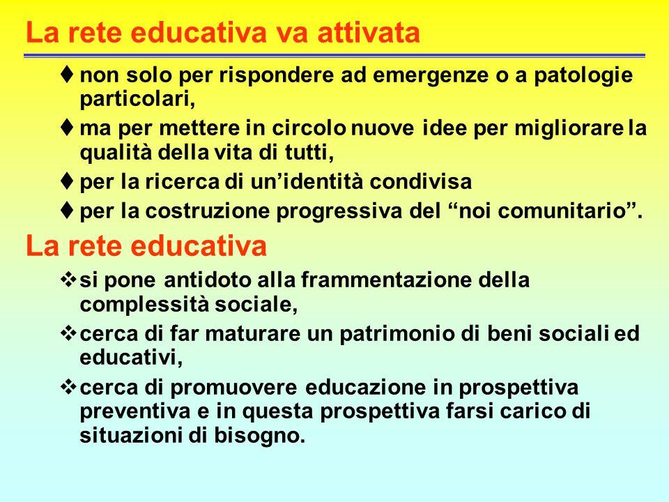 La rete educativa va attivata