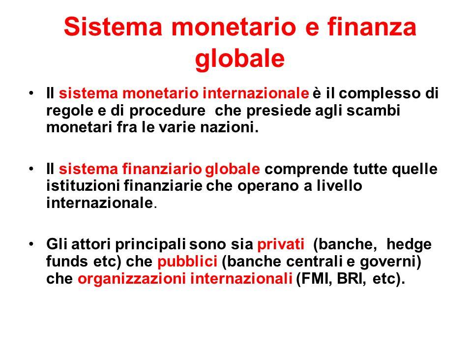 Sistema monetario e finanza globale