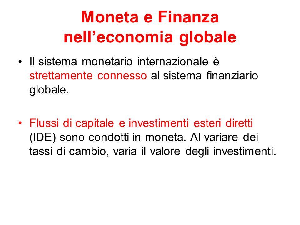 Moneta e Finanza nell'economia globale