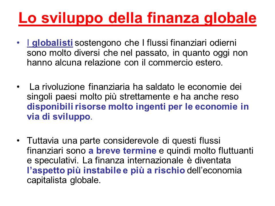 Lo sviluppo della finanza globale