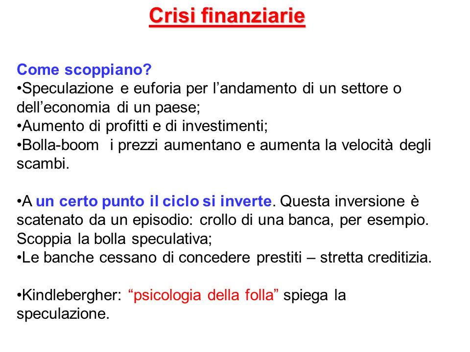 Crisi finanziarie Come scoppiano
