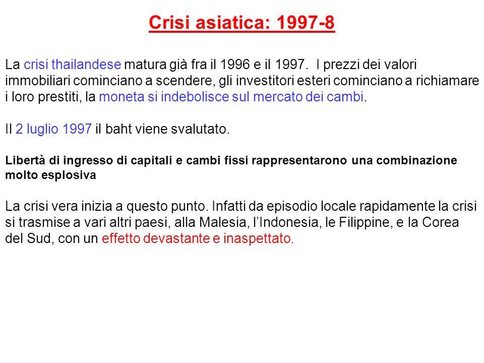 Crisi asiatica: 1997-8