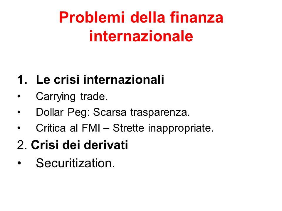 Problemi della finanza internazionale