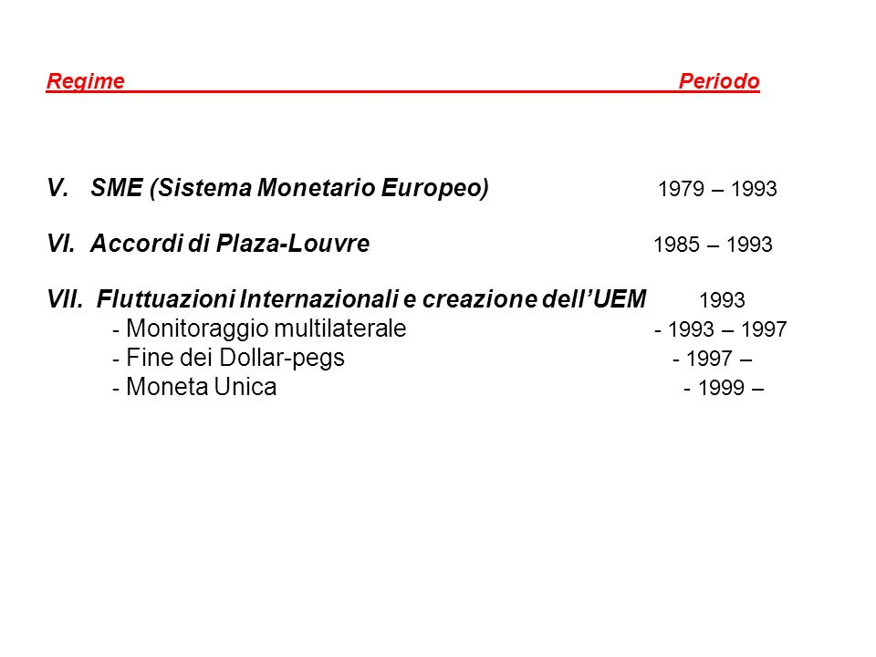SME (Sistema Monetario Europeo) 1979 – 1993