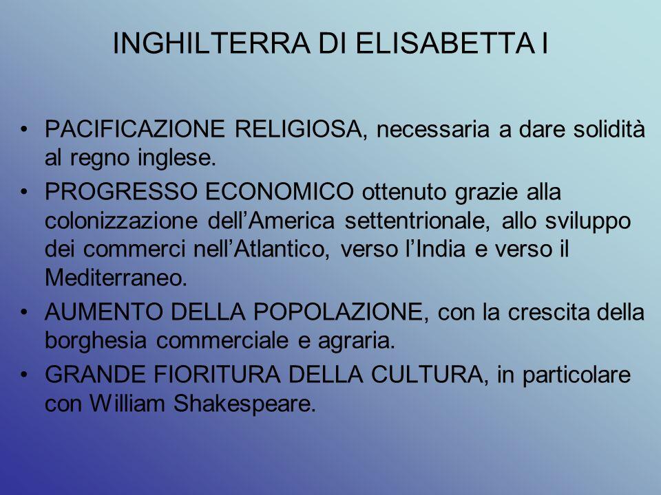INGHILTERRA DI ELISABETTA I