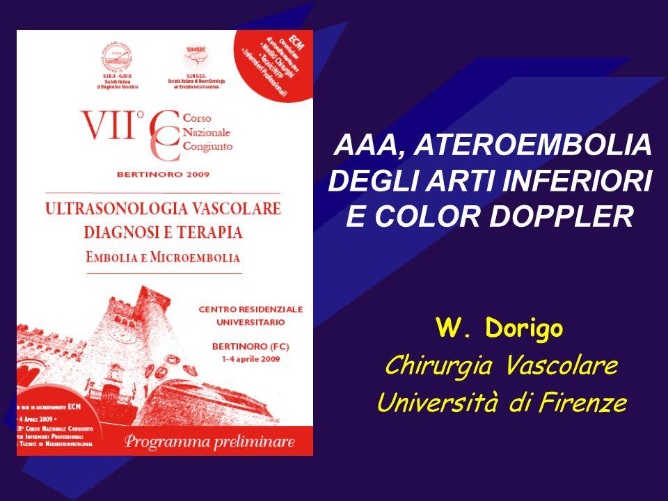 AAA, ATEROEMBOLIA DEGLI ARTI INFERIORI E COLOR DOPPLER