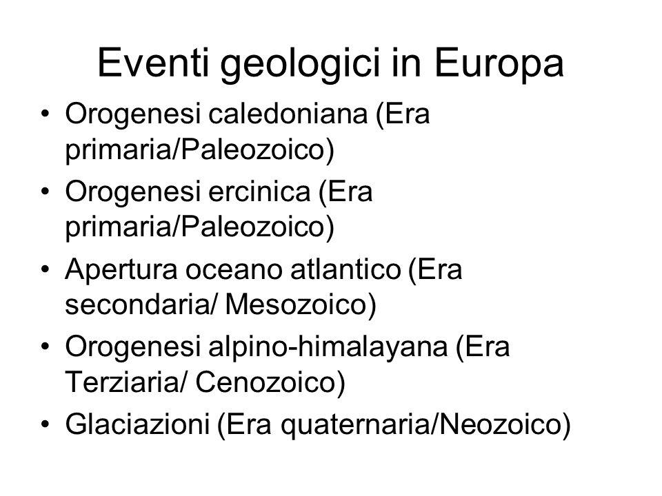 Eventi geologici in Europa
