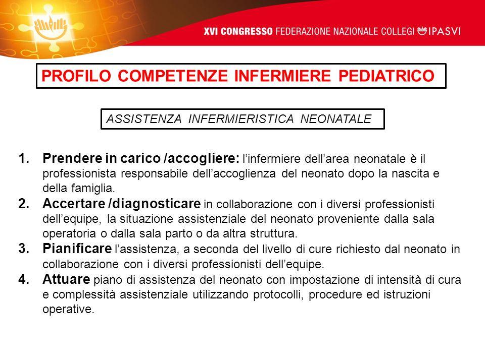 PROFILO COMPETENZE INFERMIERE PEDIATRICO